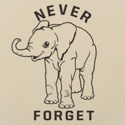 Baby Elephant Never Forget