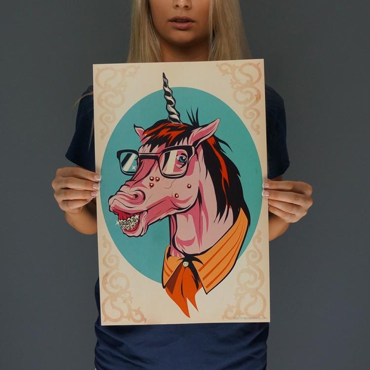 Unicorn Nerd Print