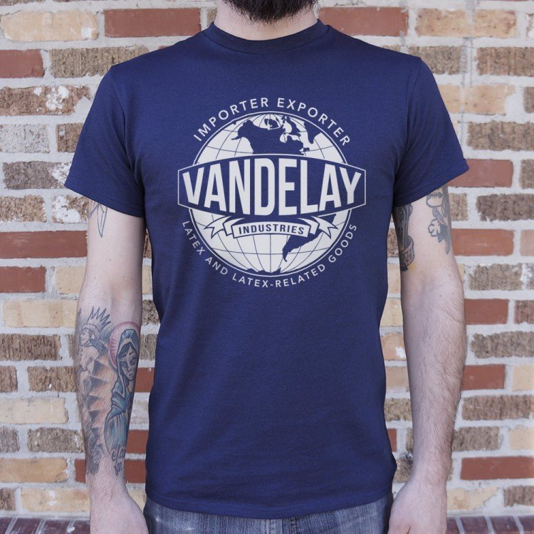 56f075624 Vandelay Industries Latex And Latex-Related Goods T-Shirt | 6 Dollar ...