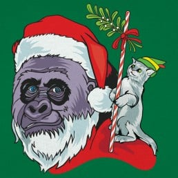 Harambe Santa Graphic