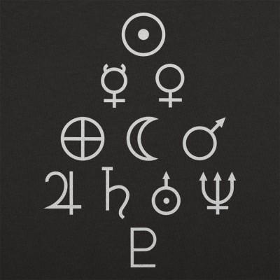 Solar System Symbols T Shirt 6 Dollar Shirts