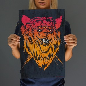 Lion-el Rich-eyes Print
