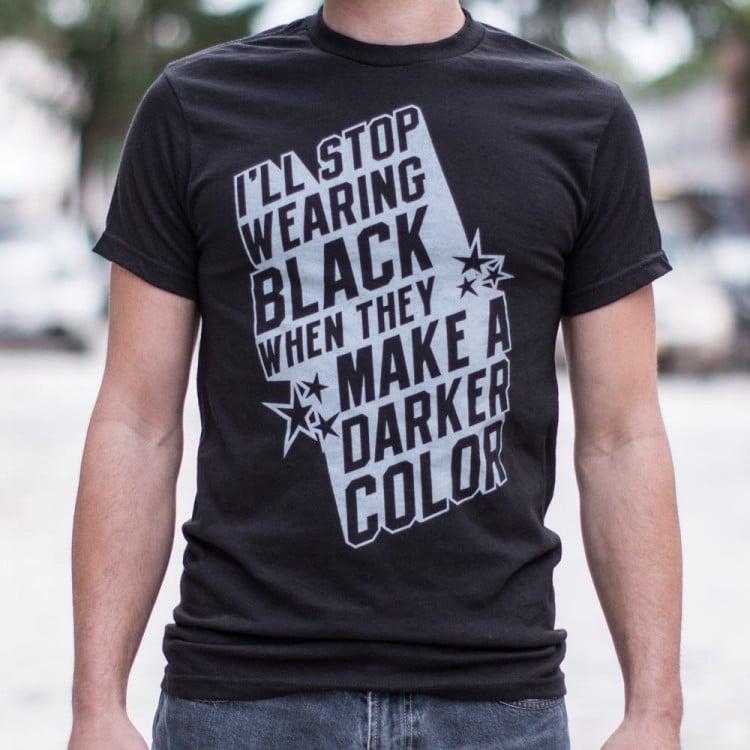 9f925f09c3e3a8 Stop Wearing Black T-Shirt