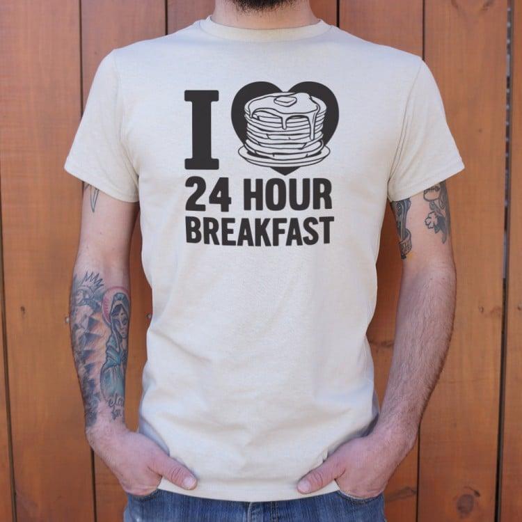 i heart 24 hour breakfast t shirt 6 dollar shirts