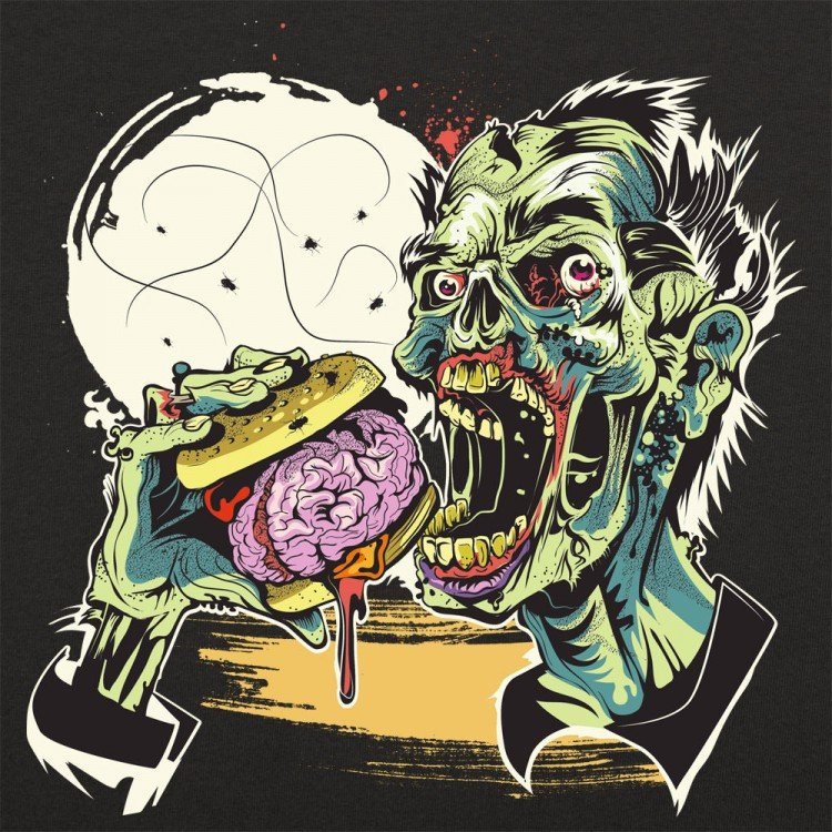 Zombie Burger Graphic