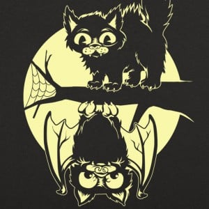 Cat And Bat Halloween