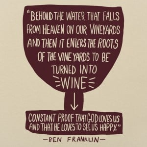 Franklin Wine Quote