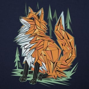 Polygon Fox Graphic