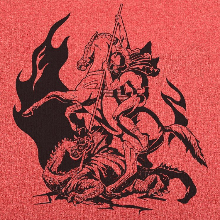 Saint george and the dragon t shirt 6 dollar shirts for Tattoo shops in st george