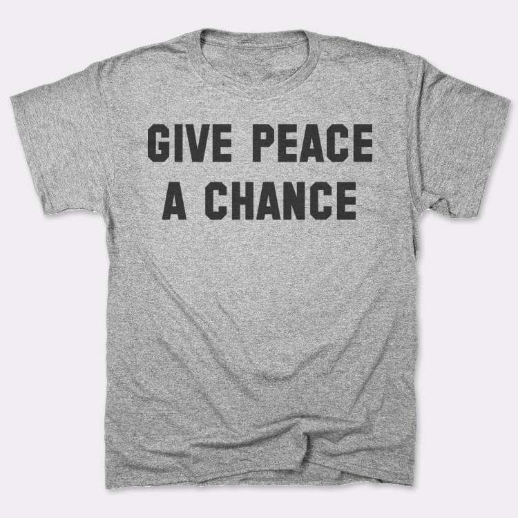Give Peace{{--}}A Chance