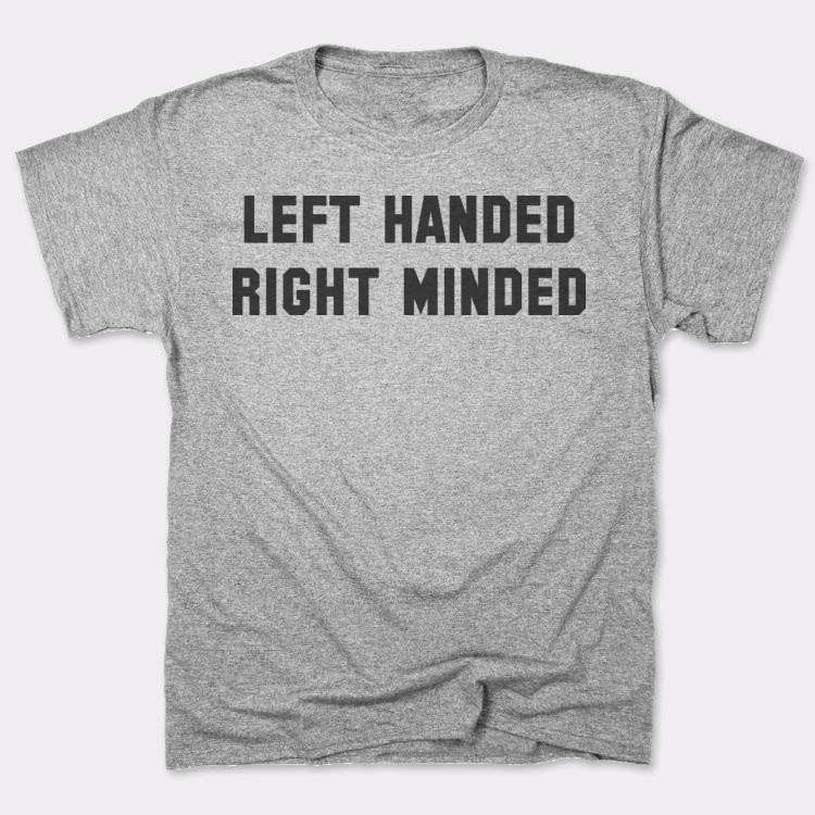 Left handed right minded