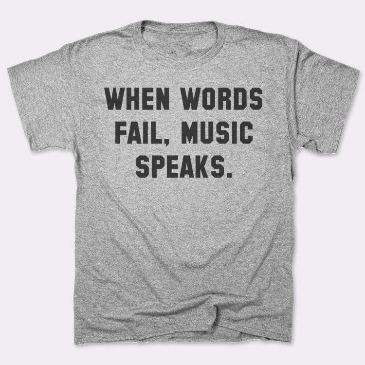 When words fail, music speaks.